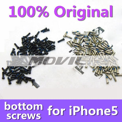 5-Point Star Original Bottom Dock Connector Screws for iPhone 5G S Replacement Spare Part Assembly