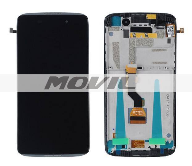 Alcatel One Touch Idol 3 6039 6039A 6039K 6039Y LCD Display Digitizer Touch Screen Assemblely with frame