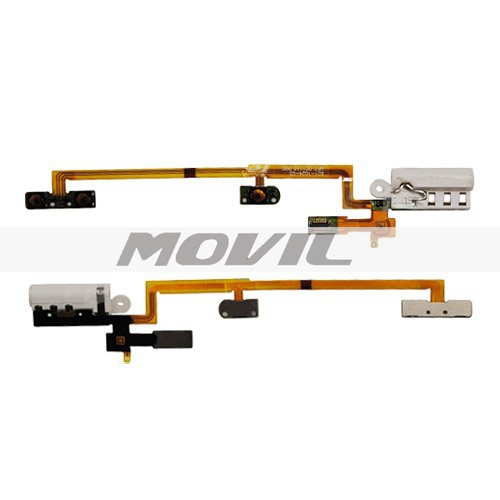 Audio Headphone Jack with Power Volume Key Flex Cable for iPod Nano 6th Gen