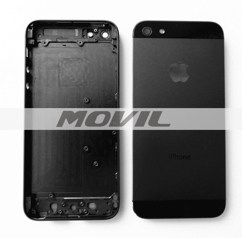 BACK BATTERY HOUSING COVER CASE METAL REPLACEMENT FOR IPHONE 5 5G black