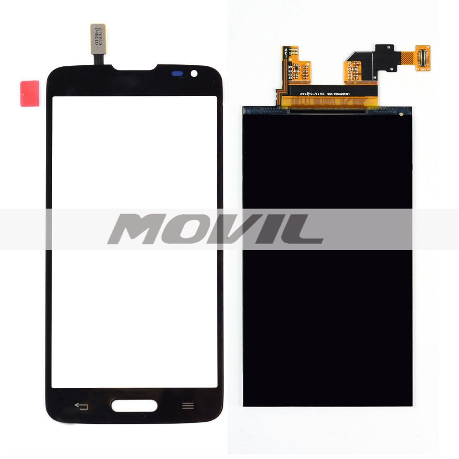 BLACK Touch Screen Digitizer Glass Sensor + LCD Display Panel Screen For LG Optimus L90 D405 D405N D415