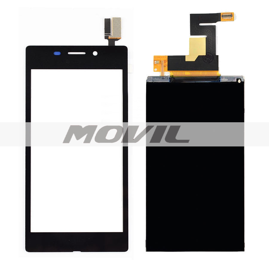 BLACK Touch Screen Digitizer Glass Sensor + LCD Display Panel Screen For SONY XPERIA M2 AQUA D2403 D2406 4G