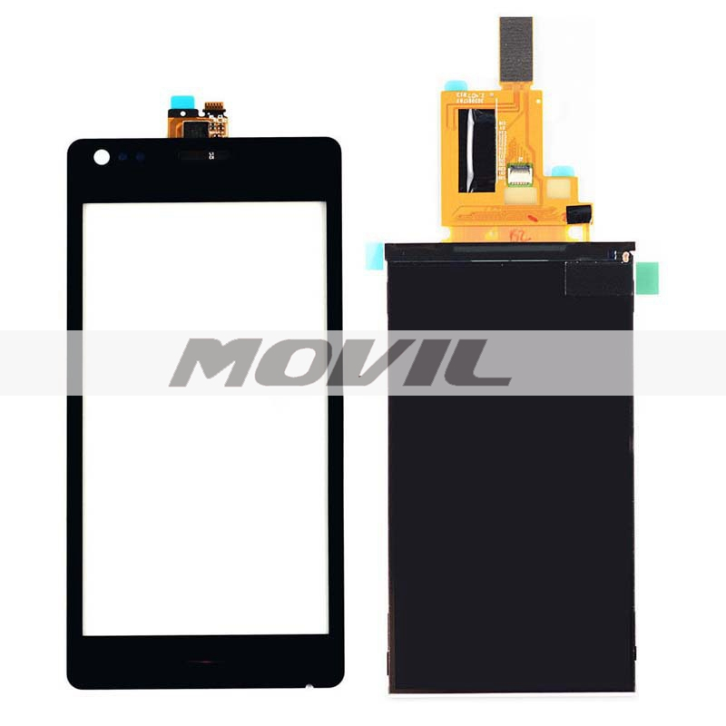 BLACK Touch Screen Digitizer Glass Sensor + LCD Display Panel Screen For Sony Xperia M C1904 C1905