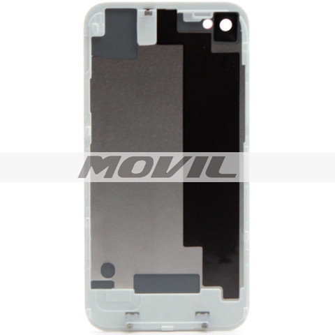 Back Glass Cover For iPhone 4s Black White Battery Door Replacement Repair Parts
