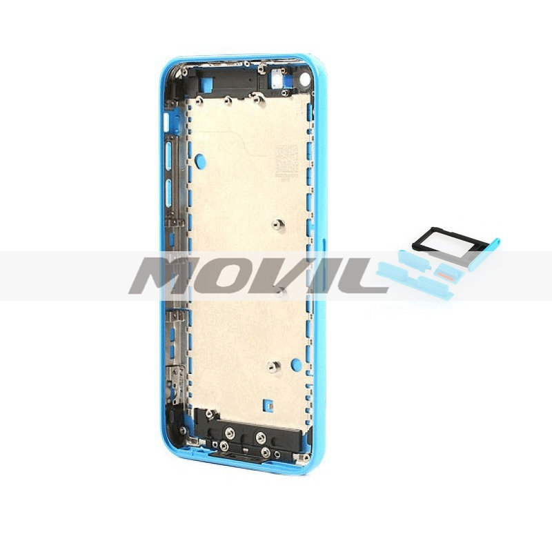 Back Housing Replacement Cover with Mid Frame Assembly For iPhone 5C - Blue