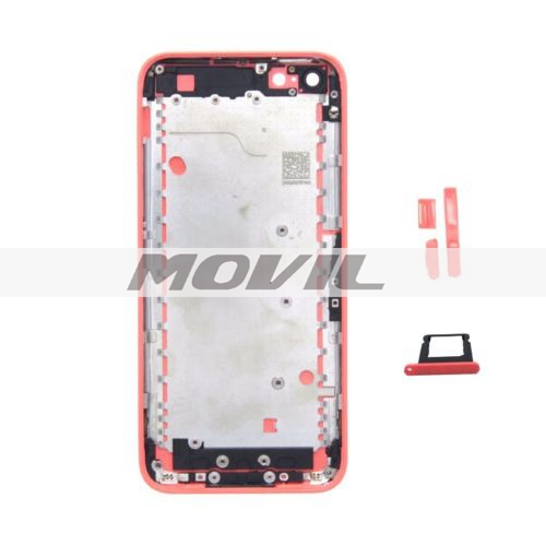 Back Housing Replacement Cover with Mid Frame Assembly For iPhone 5C - Pink