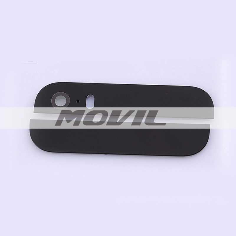 Back Rear Cover Top and Bottom Glass with Camera Flash Lens iPhone 5S Housing Replacement Parts Black Color