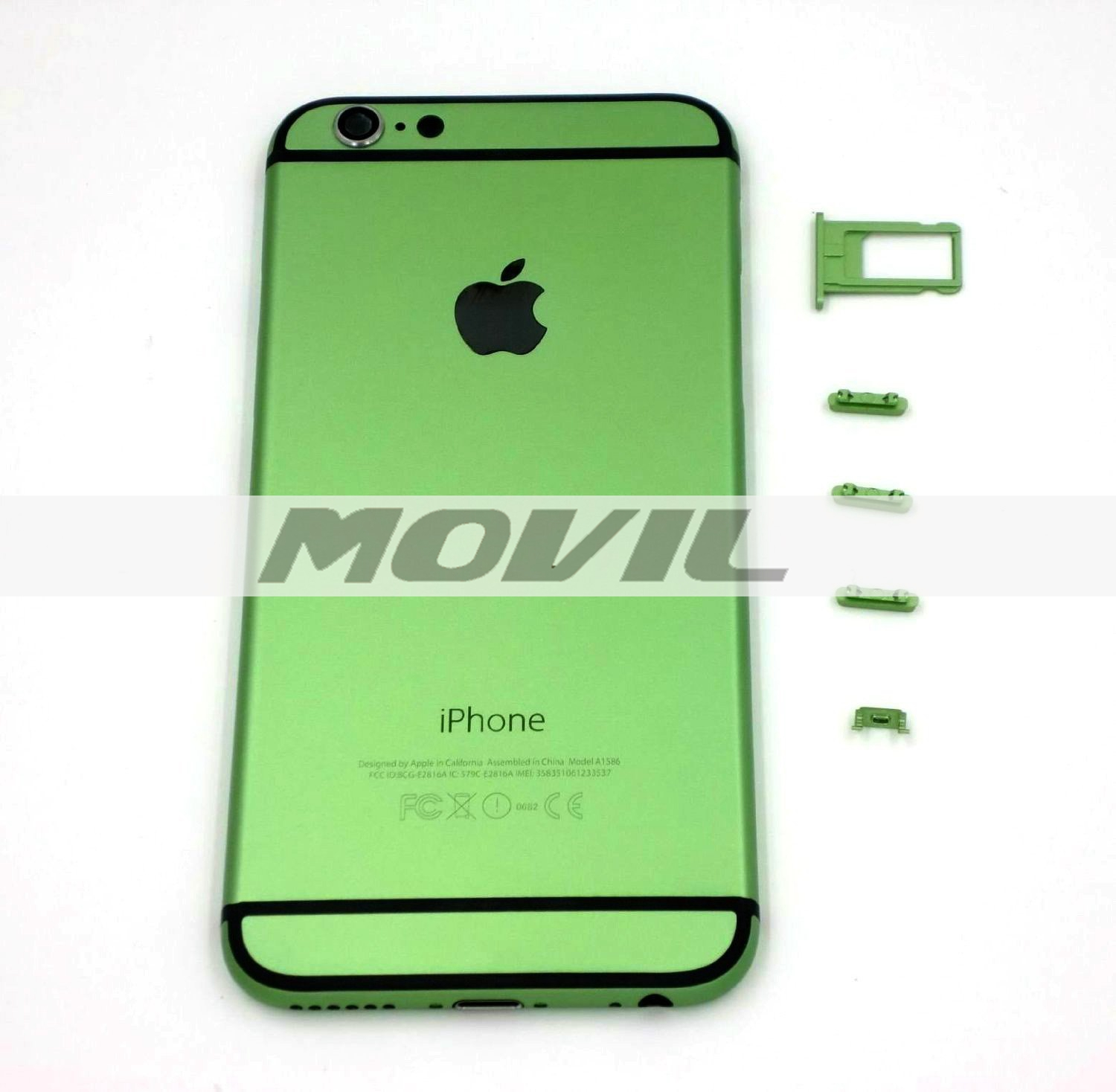 Battery Housing Door Back Cover Mobile Phone Housing Cell Phone Replacements for iPhone 6 4.7 inch - Green with Black Strap