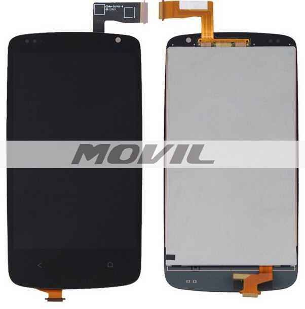 Black For HTC Desire 500 D500 Full LCD Display Panel +Touch Screen Digitizer Glass Assembly Replacement