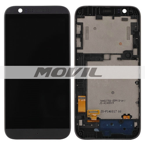 Black For HTC Desire 510 LCD Touch Screen Digitizer Assembly with bezel housing frame