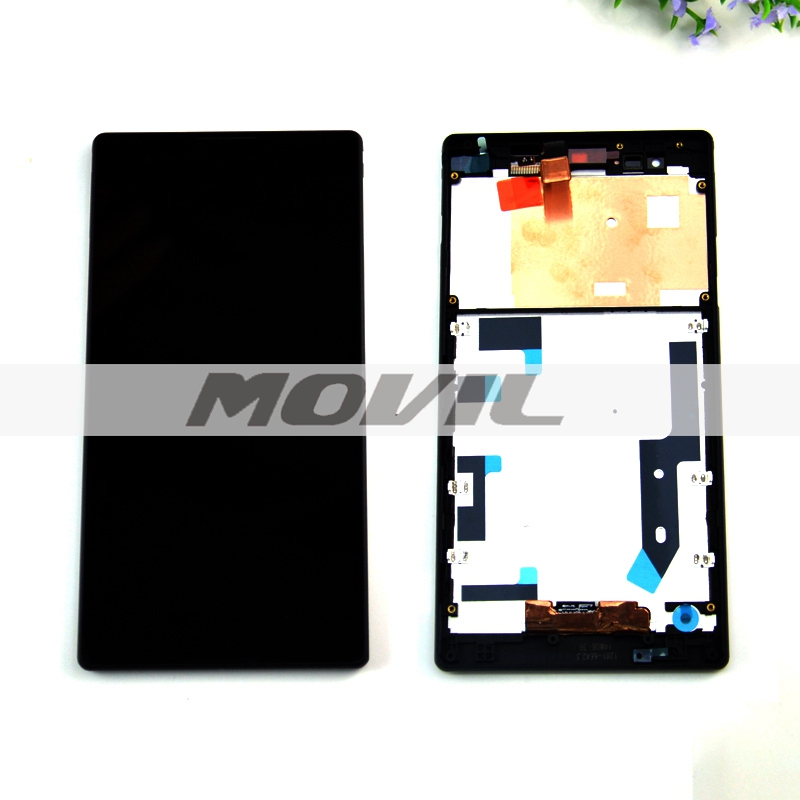 Black For Sony Xperia T2 Ultra D5303 D5306 LCD touch screen with digitizer full assembly with frame replacement