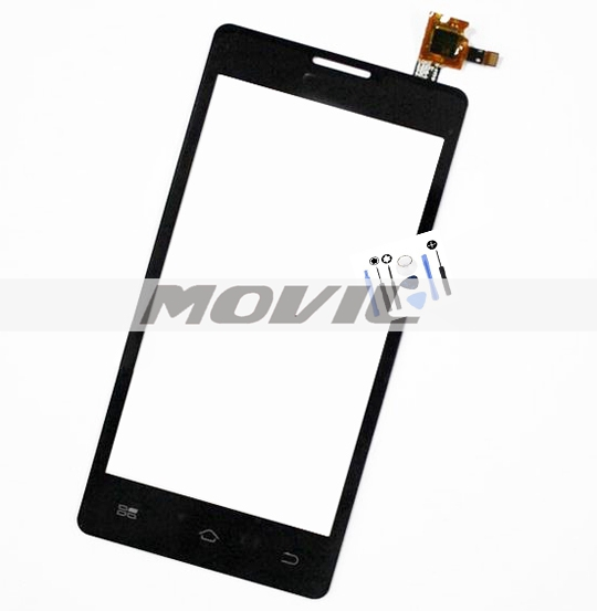 Black Front Outer Glass Touch Panel Digitizer Screen For Coolpad 5218