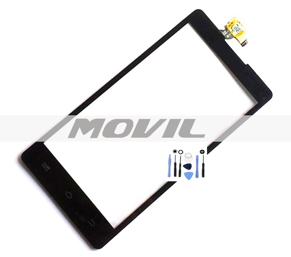 Black Front Outer Glass Touch Panel Digitizer Screen For Coolpad 5219