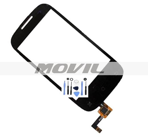 Black Front Outer Glass Touch Panel Digitizer Screen For Coolpad 5832