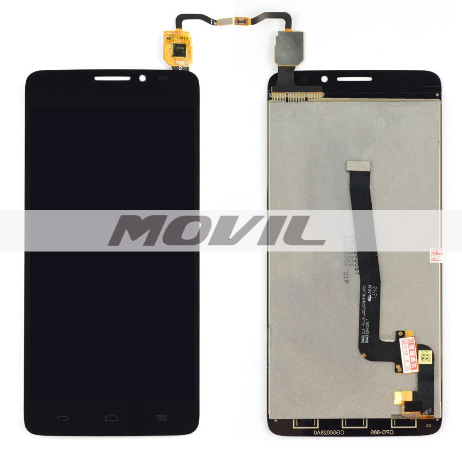 Black LCD Display + Touch Screen Digitizer Assembly Replacements For ALCATEL ONE TOUCH 6043D IDOL X