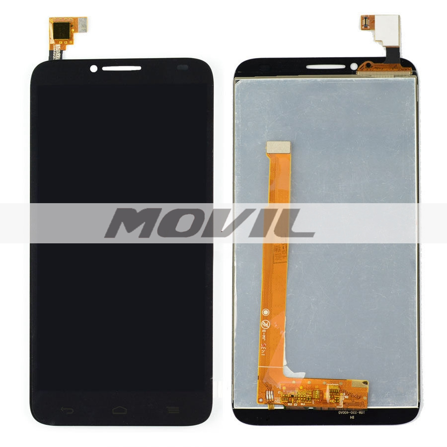 Black LCD Display + Touch Screen Digitizer Assembly Replacements For Alcatel One Touch Idol 2 OT6037 6037 6037Y