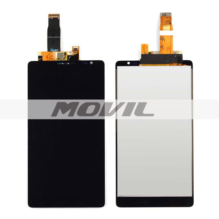 Black LCD Display + Touch Screen Digitizer Assembly Replacements For Huawei Ascend Mate 1 MT1-U06