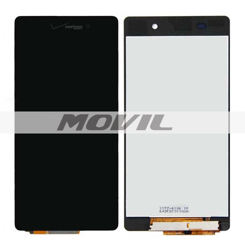 Black LCD Display + Touch Screen Digitizer Assembly Replacements For Sony Xperia Z3V D6708