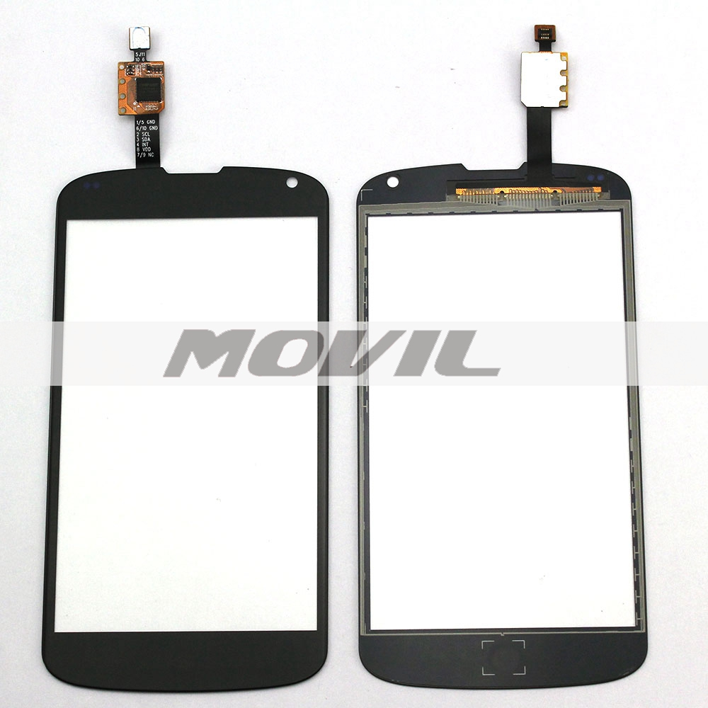 Black Touch Panel For LG Nexus 4 E960 Front Outer Glass Lens Touch Screen with Digitizer Replacement