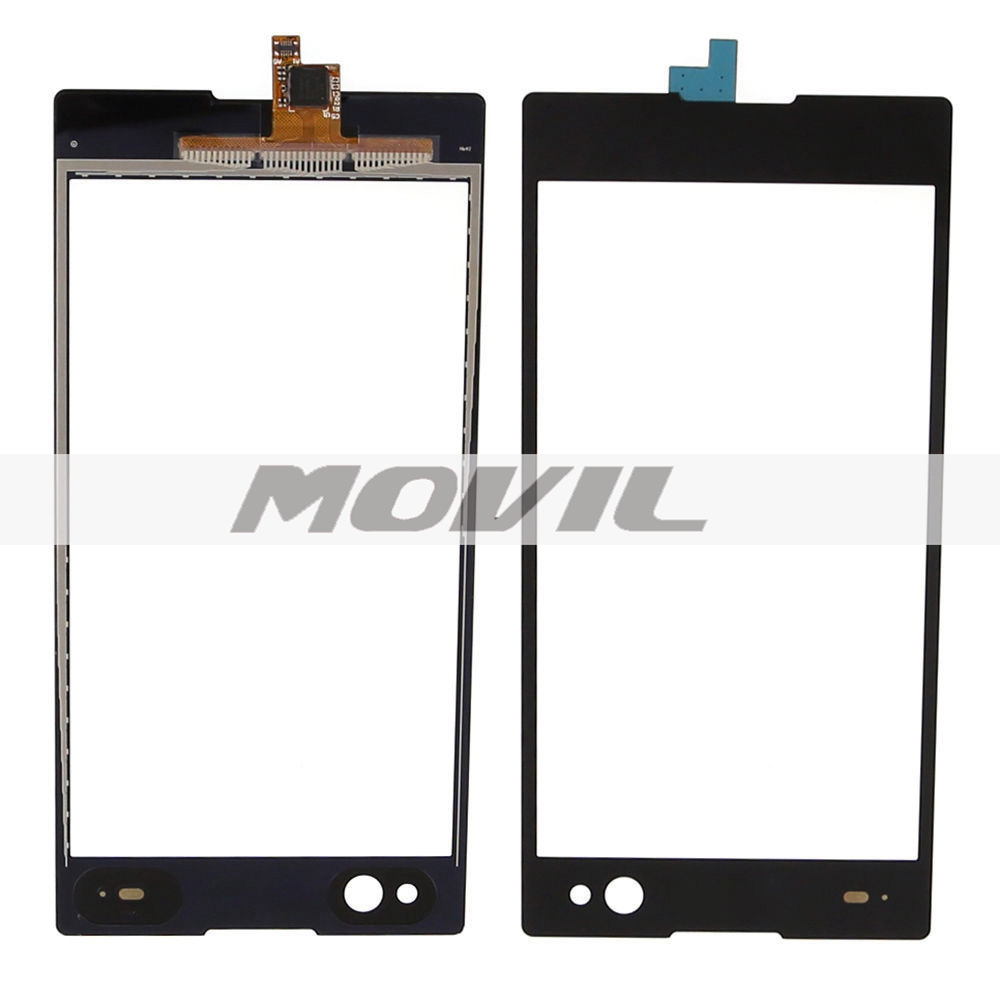 Black Touch Screen Digitizer Front Glass display Part For Sony Xperia C3 D2533