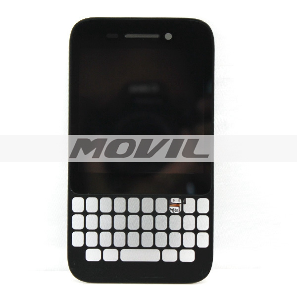 Black color LCD display touch screen digitizer assembly with frame Replacement for Blackberry Q5