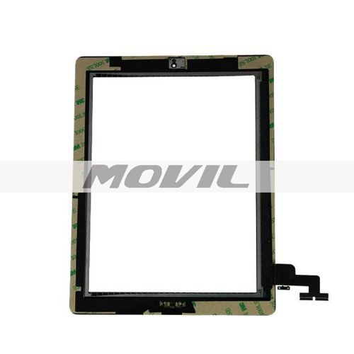 Black iPad 2 Digitizer Touch Screen Front Glass Assembly