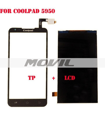 Black lCD Display + Digitizer Touch Screen for Coolpad 5950