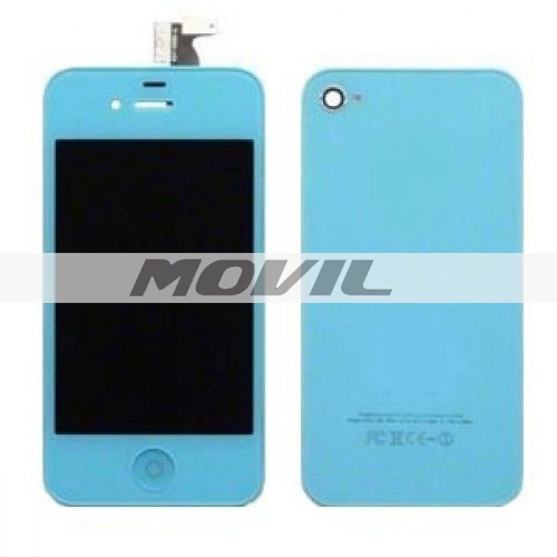 Blue LCD Display Touch Screen Digitizer Replacement for iPhone 4 4G