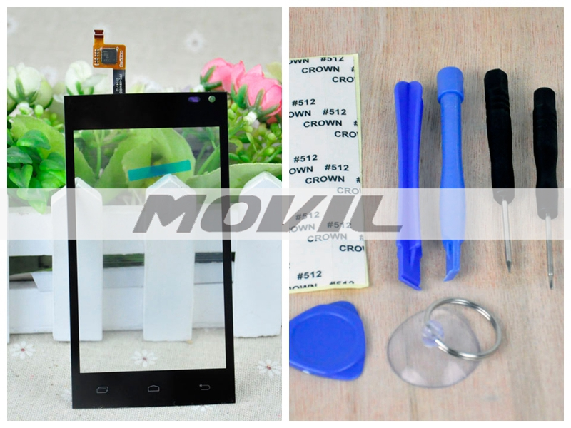 Brand New Touch Screen Digitizer For Archos 40b Titanium Front Glass Replacement Touch Panel