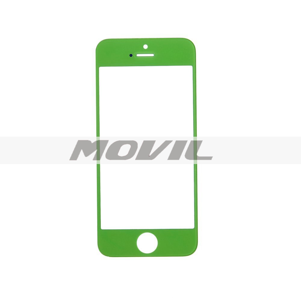Color Front Screen Glass Lens Repair Replacement for iPhone 5 5S 5C (Green)