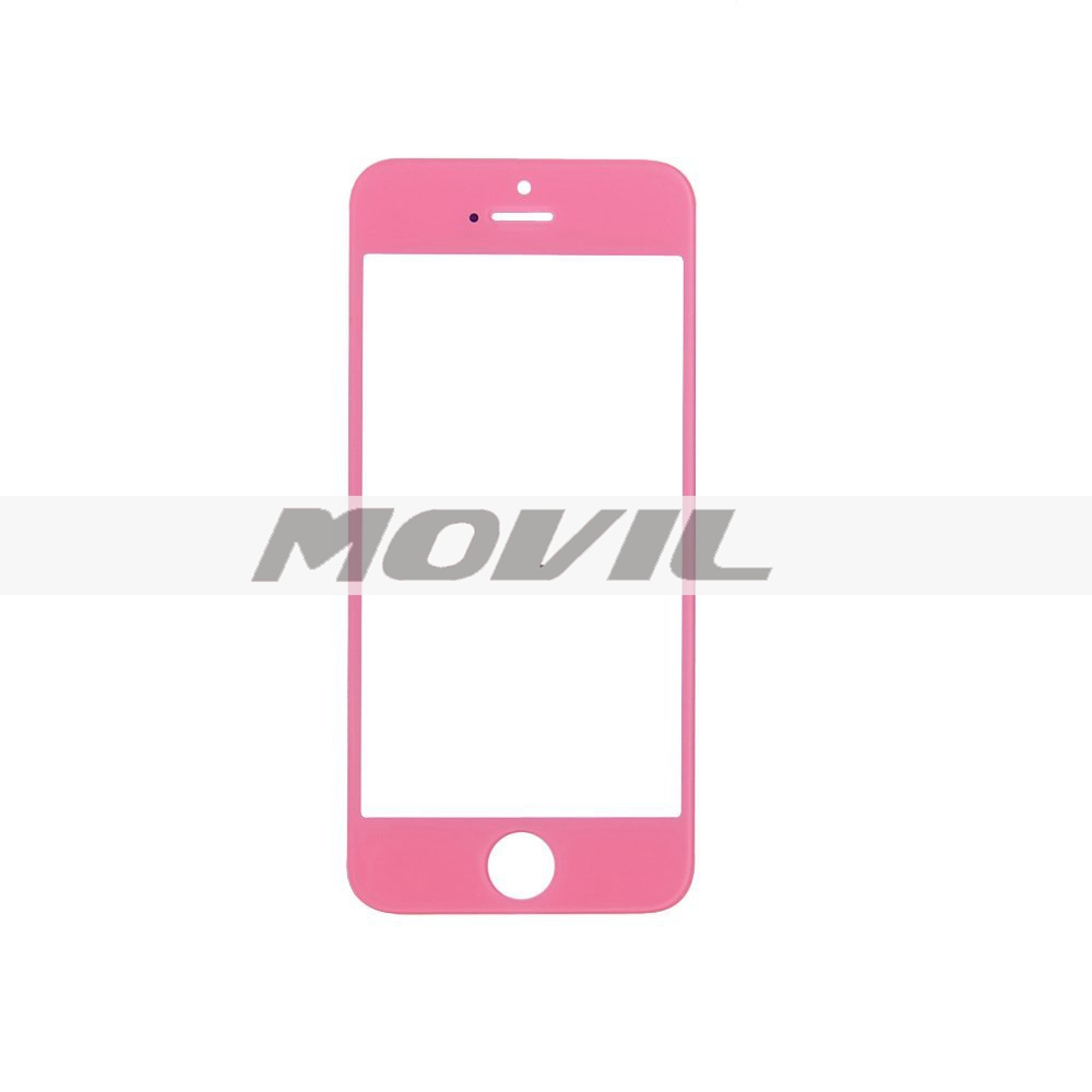 Color Front Screen Glass Lens Repair Replacement for iPhone 5 5S 5C (Pink)