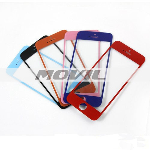 Colored Front Screen Repair LCD Glass Lens Outer Screen Replacement For iPhone 5 5G 5S
