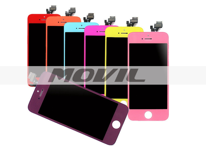 Colorful LCD for iPhone 5G for iPhone 5 LCD display touch screen digitizer assembly Red Blue Pink Green