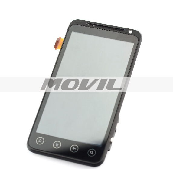 For HTC EVO 3D HTC G17 LCD Display Touch Screen Digitizer Assembly Frame Replacement