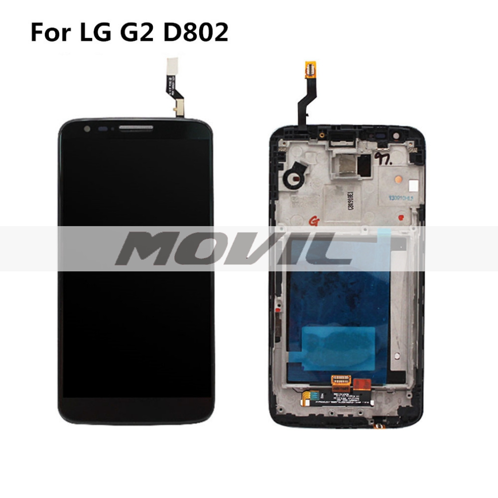 For LG Optimus G2 D802 LCD touch screen with Digitizer full Assembly with frame replacement