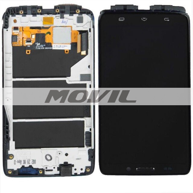 For Motorola Droid Ultra XT1080 MAXX 1080M LCD Screen Touch Digitizer Glass With Frame
