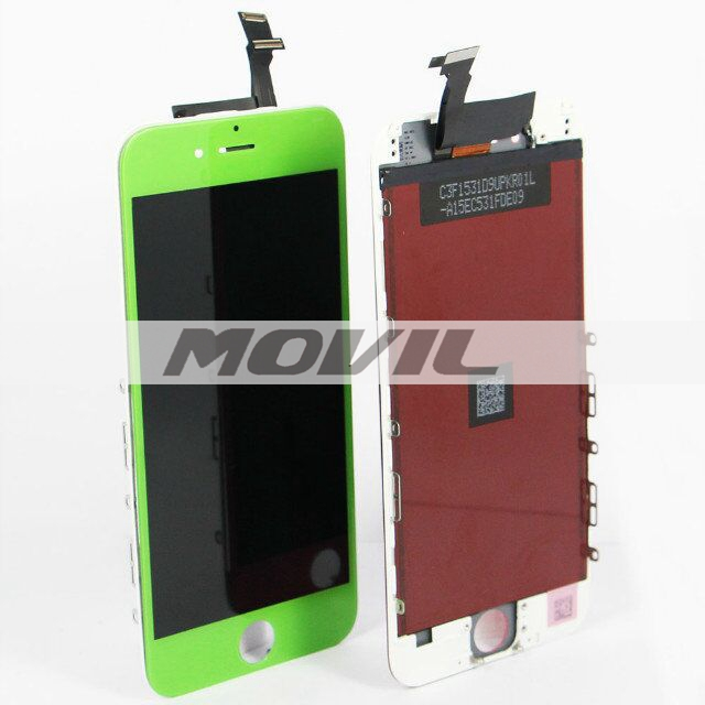 For iPhone 6 LCD display with touch screen digitizer assembly colorful green