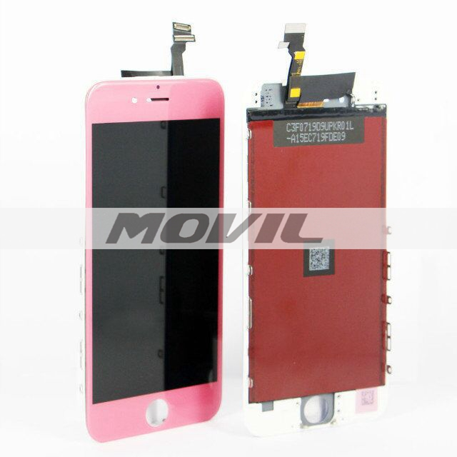 For iPhone 6 LCD display with touch screen digitizer assembly colorful pink