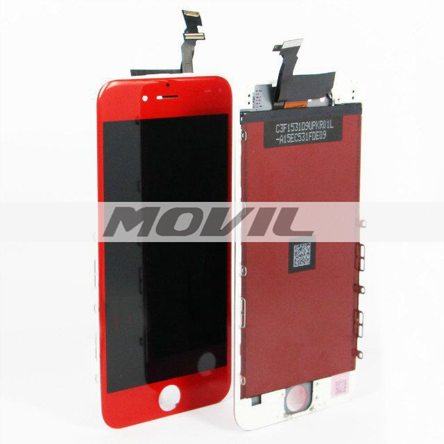 For iPhone 6 LCD display with touch screen digitizer assembly colorful red