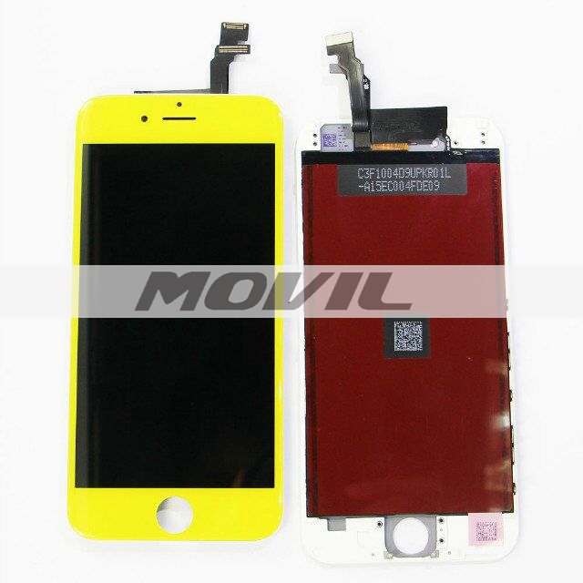 For iPhone 6 LCD display with touch screen digitizer assembly colorful yellow