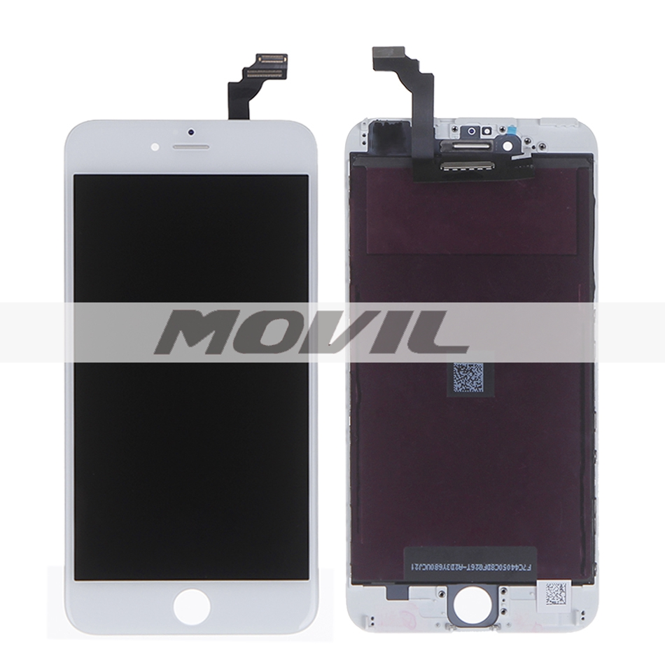 For iPhone 6 Plus LCD Display+Touch Screen Digitizer+Frame assembly Free Shipping 5.5 inch white