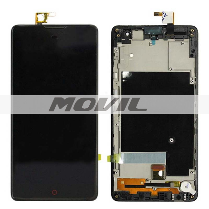 Frame BLACK LCD Display + Touch Screen Digitizer Assembly Replacement For ZTE Nubia Z7 Max NX505J