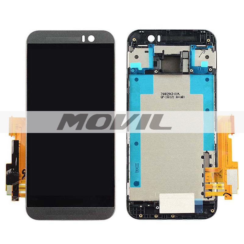 Frame Black LCD Display + Touch Screen Digitizer Assembly Replacement For HTC One M9