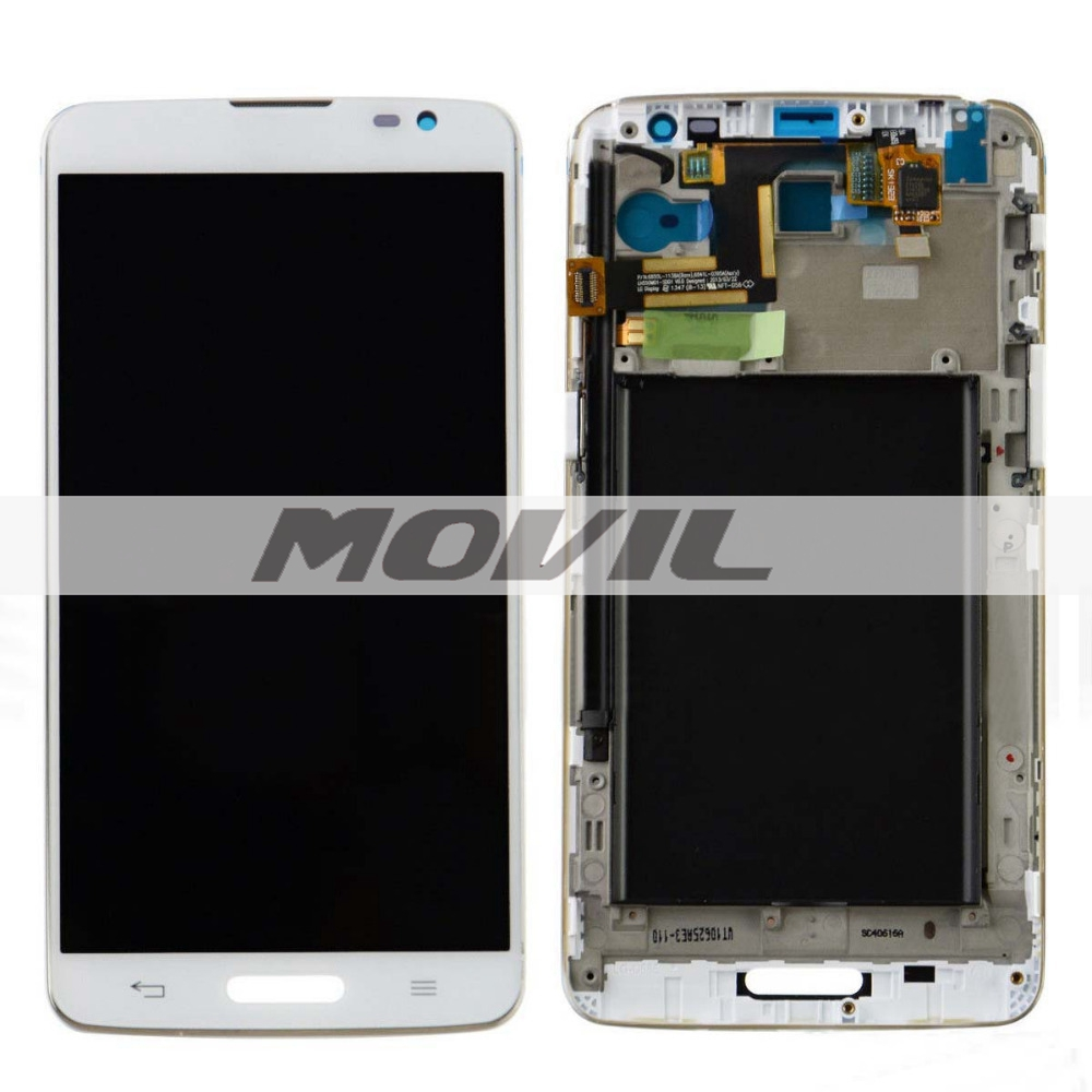 Frame White LCD Display + Touch Screen Digitizer Assembly Replacement For LG G Pro Lite D680 D682 D682TR