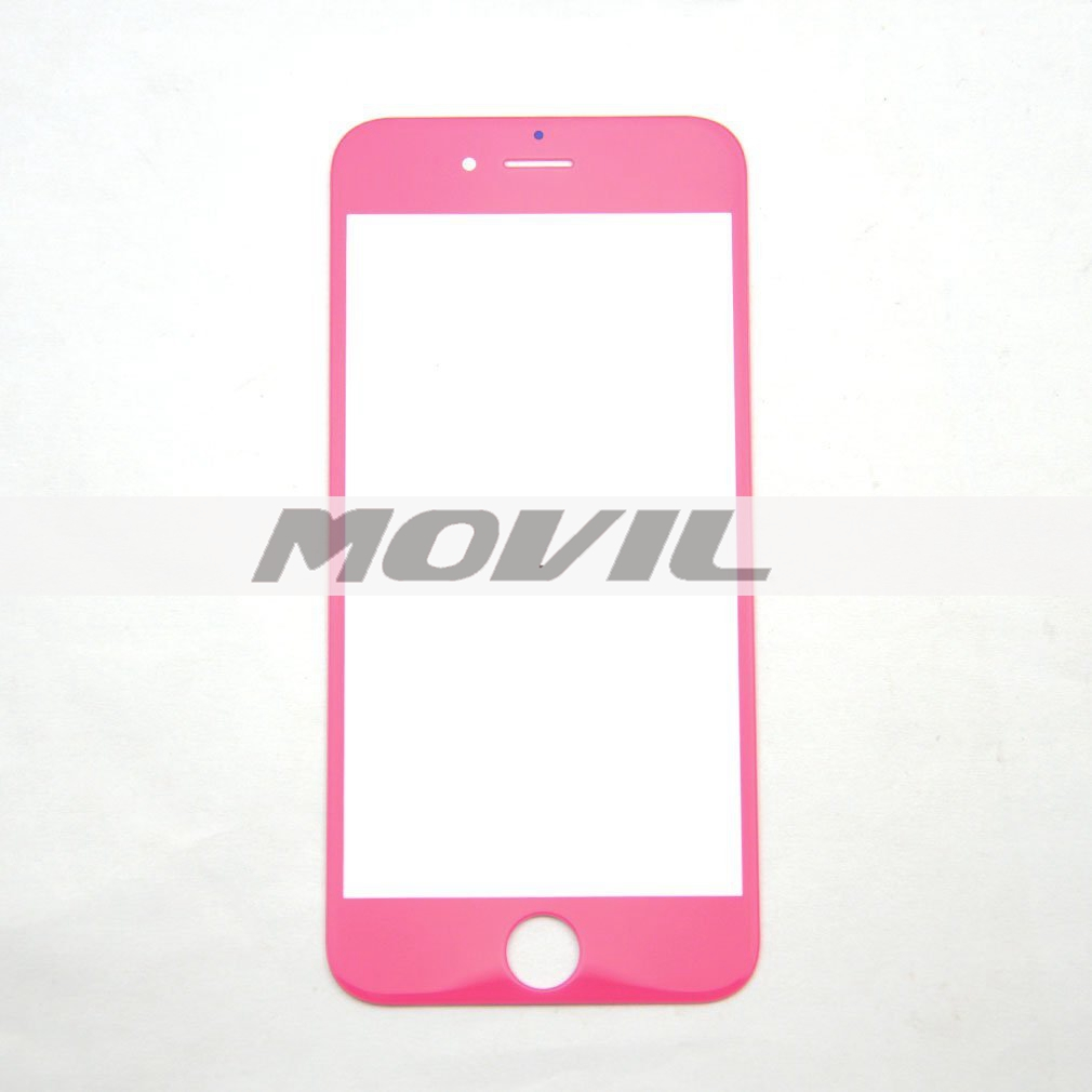 Front Lens Outer Glass Protector Replacement for Iphone 6 6g 4.7 (pink)