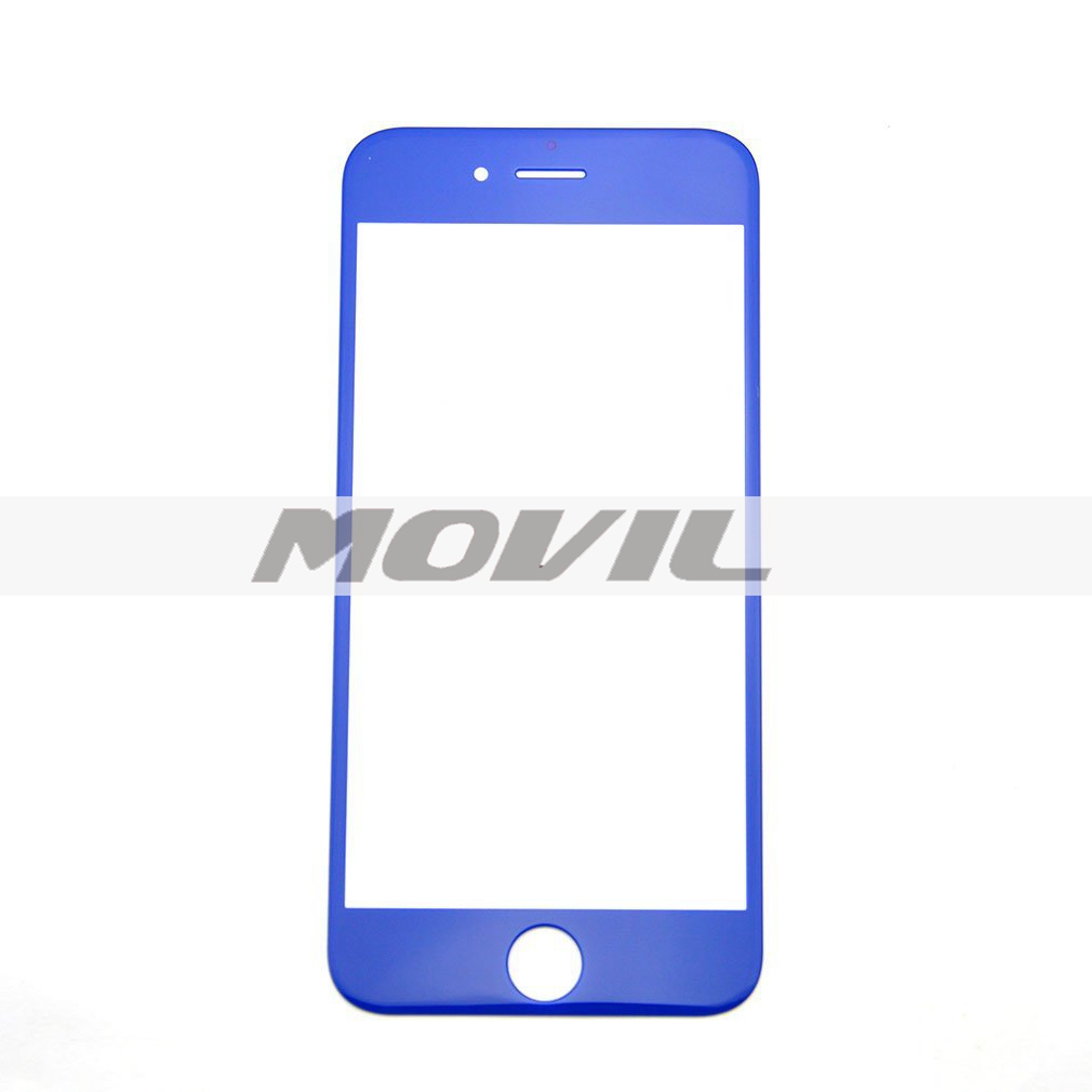 Front Lens Outer Glass Protector Replacement for Iphone 6 6g 5.5 Plus (dark blue)