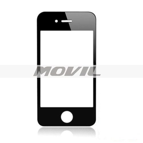 Front Screen Lens Glass For iPhone Black 4 4G Replacement