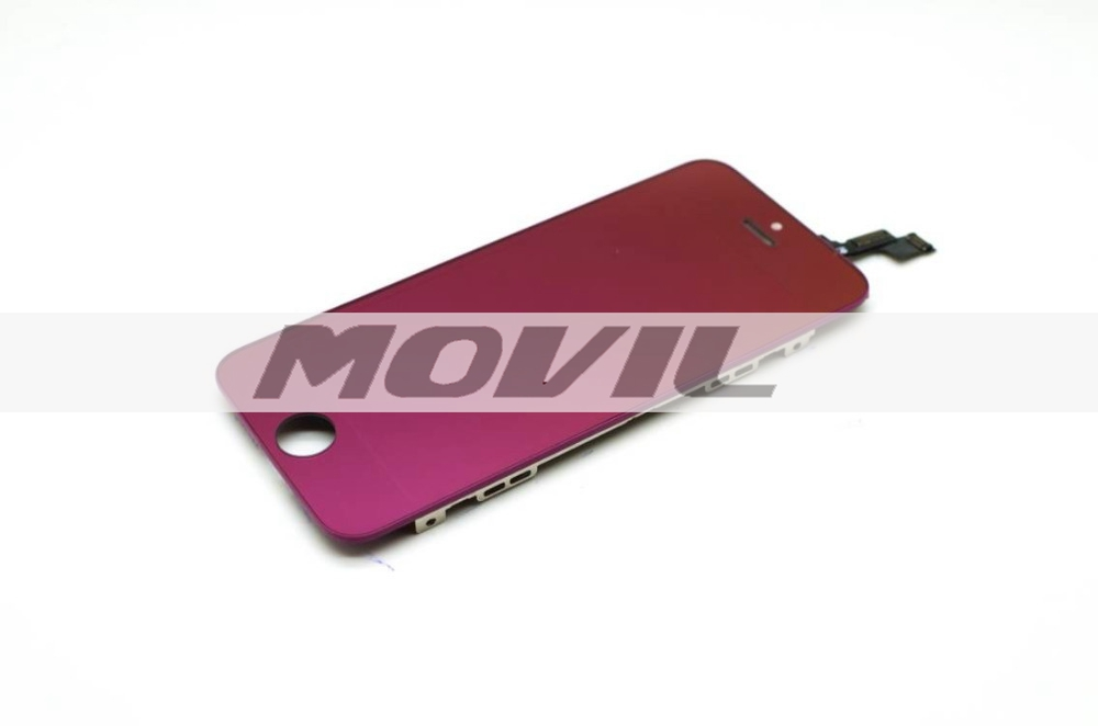 Front Touch Screen Digitizer LCD Display Repair Assembly for iPhone 5S purple