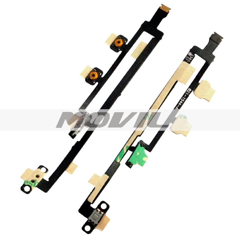 Grade A Volume Control Power Switch OnOff Key Flex Cable Replacement for ipad mini ipad 2 ipad 3 iPad 4 ipad 5 Wholesale