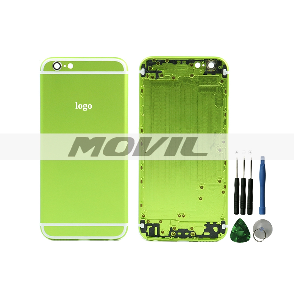 Green Housing For iphone 6 back battery rear door cover for iphone 6 4.7 back housing battery cover